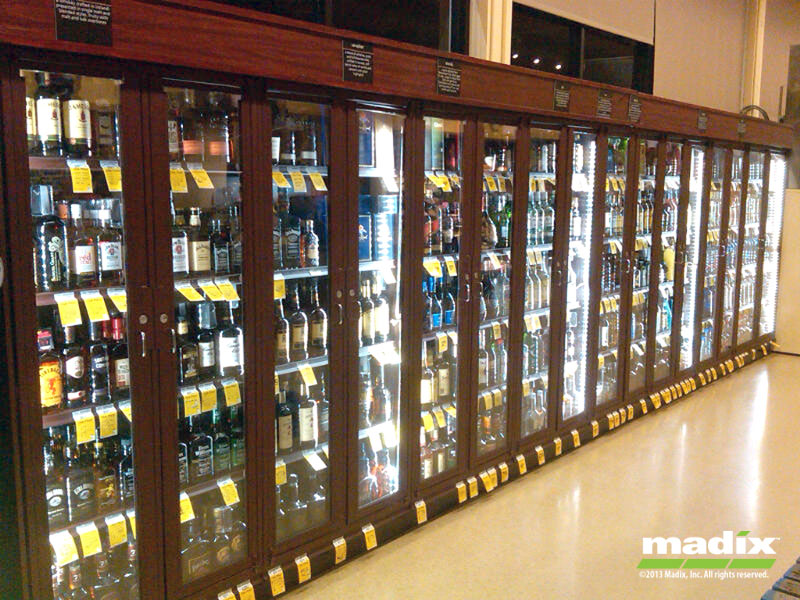 Liquor Security Cabinet Gondola Lock Up System By Madix