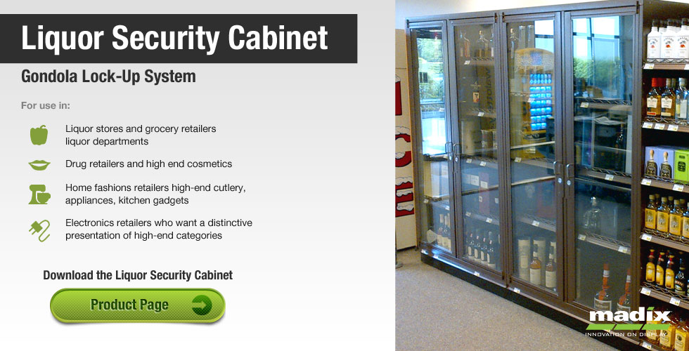Liquor Security Cabinet Gondola Lock Up System