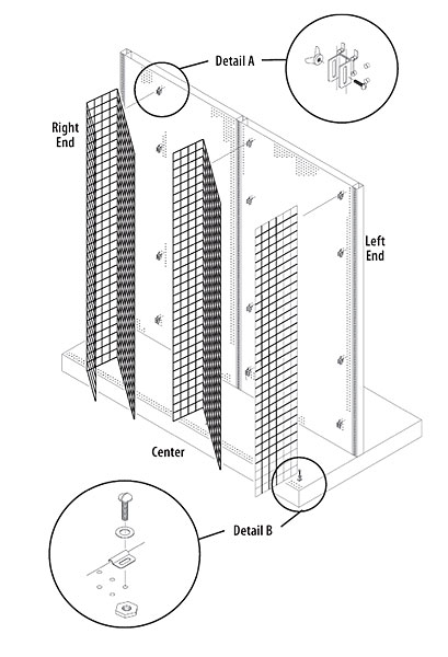 Shower Curtain Display System  Wire Grid