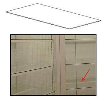 GPTGSB(NW)(ND)-Maxi Grid Tempered Glass Shelves