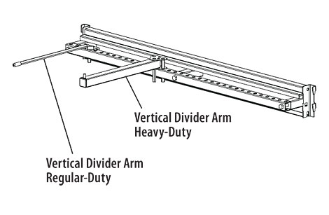 VDA-(NL)(TYPE)-Vertical Divider Arms