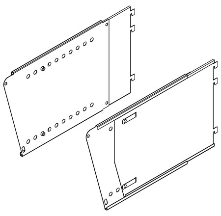LDGHBA(NH)(14-24)(HAND)-Lift and Drop Graphics Header Bracket Assembly