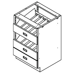 Pharmacy Metal Cabinet Bottle Unit