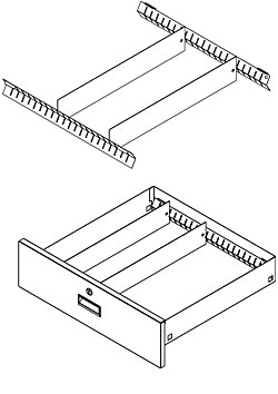 Pharmacy Metal Cabinet Drawer Divider System