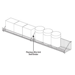 Pharmacy Wire Grid Shelf Divider