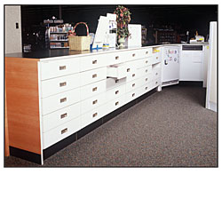 Wood Work Counter Units