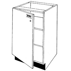 Pharmacy Wood Locking Door Unit with Two Shelves